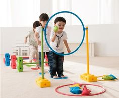 The Weplay Motor Skills Universal Set is the perfect set for daycares, summer programs, and physical education classes. This set includes bricks, poles, hoops, beanbags, balance beams, and more. The m