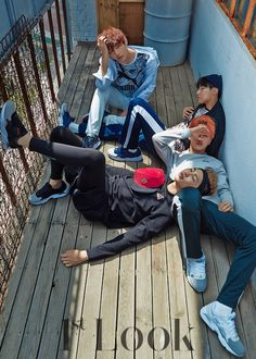 BTS - Look magazine photoshoot with puma; Rap Monster, Jimin, J-Hope & V Taehyung, Jimin Jungkook, Bts Bangtan Boy, Namjoon, Vmin, Foto Bts, Bts Photo, Photo Shoot, Billboard Music Awards