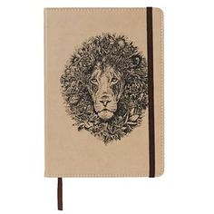 Marini Ferlazzo A5 Hard Cover Journal Lion 240 Page