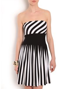 Black and White. Morgan Dress, Strapless Dress, Shopping, Black And White, Virtual Closet, Dress Black, Tops, Dresses, Women