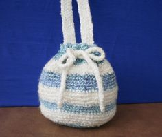 Small Blue and White Hobo bag by katewalter1 on Etsy, $20.00