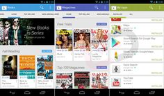 Redesigned Google Play Store App