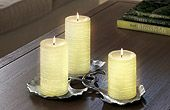 GloLite candles from partylite... glow all the way to the bottom... very cool.