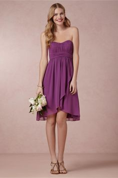 style | boysenberry (and dare we say radiantly purple?) bridesmaid dress from BHLDN