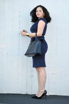 {Peplum & Metal Details} REAL Curvy Girl inspiration from Tanesha Awasthi, her blog: Girl With Curves
