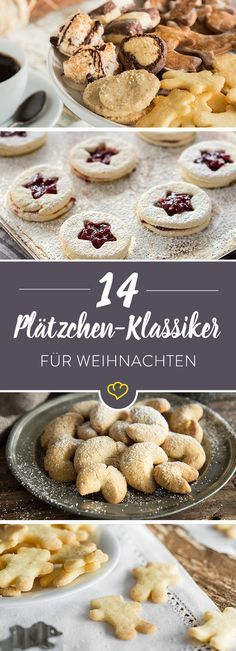 The most popular cookies - 25 Christmas classics .- Die beliebtesten Plätzchen – 25 Klassiker aus der Weihnachtsbäckerei When the sweet scent of Christmas cookies envelops the streets, you can look forward to 14 irresistibly tasty cookie recipes. Delicious Cookie Recipes, Best Cookie Recipes, Baking Recipes, Dessert Recipes, Xmas Cookies, Yummy Cookies, Cake Cookies, Cookies Et Biscuits, Christmas Baking