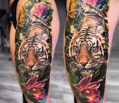 Tiger tattoo by Jakub Zitka Tattoo
