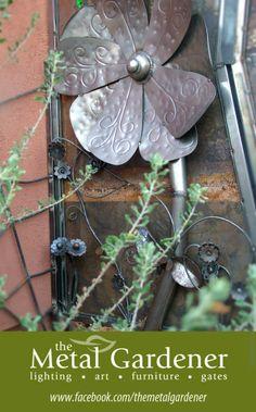 Close up of Flower - Flower, spider, cat gate by Jon WATTO Watson- The Metal Gardener Metal Garden Art, Metal Art, Cat Gate, Customs House, Garden Of Earthly Delights, Art Furniture, Inspiring Art, Spider, Garden Ideas