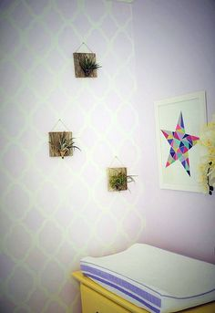 A sweet and sophisticated nursery makeover using stencils, bedroom ideas, diy, home decor, painting, wall decor