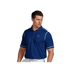 Men's Antigua Montreal Impact Icon Desert-Dry Tonal-Striped Performance Polo, Size: Medium, Dark Blue