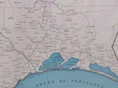 RARE OAXACA MEXICO Map of Oaxaca Mexico w RAILROADS 1927 RARE SIZE Map #2878