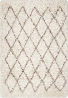 Rhapsody Collection Ultra Plush Area Rug in Winter White and Taupe design by Surya