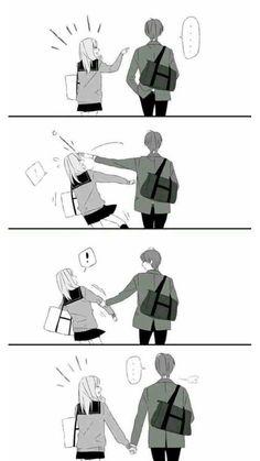 Couple Anime Manga, Couple Amour Anime, Anime Couples Drawings, Anime Love Couple, Anime Couples Manga, Romantic Anime Couples, Cute Couple Comics, Couples Comics, Cute Couple Art
