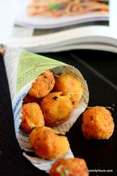 Cherry tomato cheese balls!  These look amazing!  Going to try it once all my tomatoes are ready!