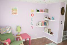 Rain Gutter Shelves Nursery Book Corner Lucy S Room