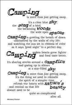 Camping Stickers for scrapbook