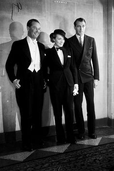 Maurice Chevalier, Marlene Dietrich and Gary Cooper, ca.1933.