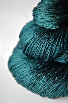 Giant clam closing forever - Silk Yarn Lace weight  Gawgeous!  DyeForYarn on Etsy