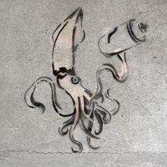 Lignja / Dorćol #BeogradskiGrafiti #StreetArt #Graffiti #Beograd #Belgrade #Grafiti