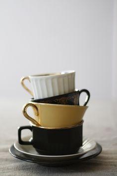 coffee cup and saucer stack My Coffee, Coffee Shop, Coffee Cups, Tea Cups, Coffee Time, White Coffee, Morning Coffee, It Goes On, Mug Cup