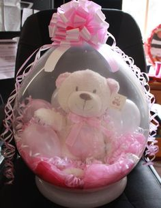 Stuffed Balloon with Russ Berrie Bear. Girl : Party Supplies for Sale : Lets Celebrate Parties