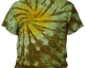 Tie Dye Green Swirl Burst T Shirt