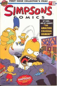 Simpsons Comics 1 - The Amazing Colossal Homer - Moes Tavern - Bart Simpson - Marge Simpson - Lisa Simpson - Bill Morrison
