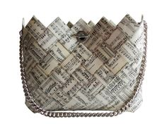 Check out the best womens handbags Here Candy Wrapper Purse, Candy Bags, Tote Purse, Clutch Bag, Sheet Music Crafts, Paper Purse, Unique Purses, Paper Jewelry, Best Bags