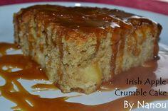 Irish Apple Crumble Cake http://luniversculinaire2nanou.blogspot.fr/2015/03/irish-apple-crumble-cake.html