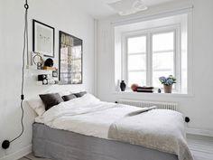Wohnung Schlafzimmer skandinavischer Stil Poster Wand Deko