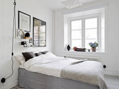 Schlafzimmer skandinavischer stil  Cushion update via @basicblackandwhite ➕➕➕ | Swiss Cross ...