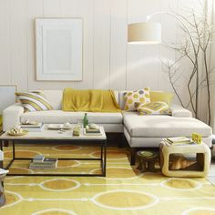 Brilliant color for cheering mood in the living room