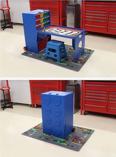 DIY portable LEGO creation station