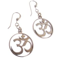 Delicate Om Peace Bronze Earrings on French Hooks -- You can find more details by visiting the image link.