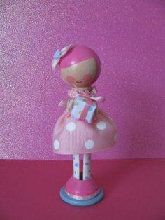 birthday girl clothespin doll