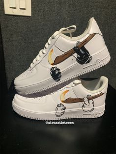Behind The Scenes By customised_culture Best Sneakers, Custom Sneakers, Sneakers Fashion, Sneakers Nike, Nike Custom Shoes, Custom Painted Shoes, Nike Shoes Air Force, Le Tennis, Fresh Shoes
