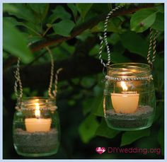 DIY Garden Lanterns.  Nice step-by-step with visual pictures on creating these cute lanterns.