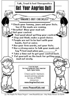 Printable Anger Management Activities | managing anger teenagers worksheets for children,kids