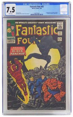 1961 Marvel Fantastic Four #52 1st Black Panther - shopgoodwill.com