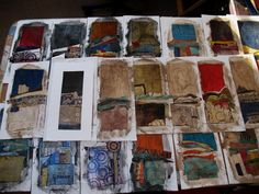 Laura Lein-Svencner - collage artist, blogger & instructor..... creating pieces!! .....seeing this excites my soul!