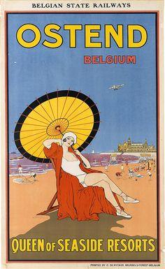 SAMUEL COLVILLE BAILIE (1879-1926) OSTENDE BELGIUM - QUEEN OF SEASIDE RESORTS. 1925