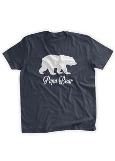Papa Bear T-Shirt Grizzly Bear Grandparent Gifts for Papa Daddy Funny Father's Day Gift Idea Bear Shirt Papa Family Mens Youth Kids T-shirt by BumpCovers on Etsy https://www.etsy.com/listing/207747435/papa-bear-t-shirt-grizzly-bear