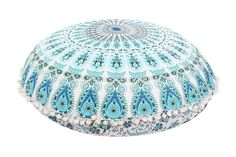 "32"" Round Mandala Tapestry Floor Pillows Meditation Pillow case Ottoman Poufs Wholesale"