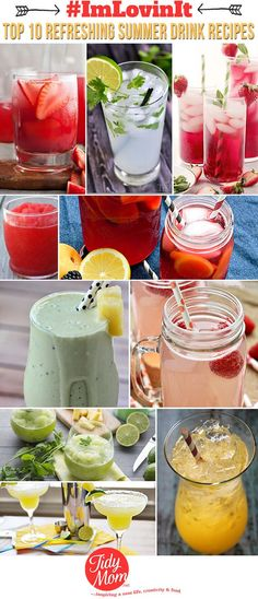 Check out Tidy Mom's fabulously delicious drink recipes!  Your friends will love them.