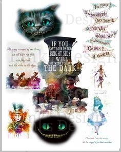 Water Slides, Dark Backgrounds, Digital Image, Painted Rocks, Alice In Wonderland, Tea Party, Fairy Tales, Crafty, Prints