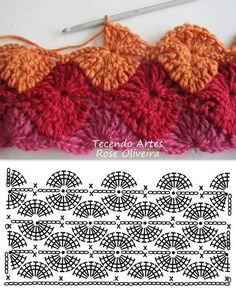 Catherine wheel crochet stitch chart