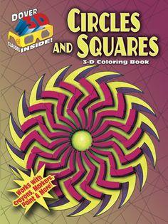 3-D Coloring Book - Circles and Squares