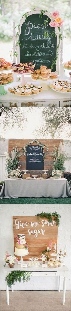 16 Country Rustic Wedding Dessert Table Ideas – Page 3 of 4 vintage rustic wedding dessert ideas for 2017 Wedding Signs, Diy Wedding, Dream Wedding, Wedding Day, Table Wedding, Wedding Vintage, Rustic Wedding Desserts, Wedding Decorations, Dessert Table