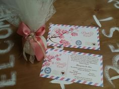 Πρόταση για #προσκλητήριο & #μπομπονιέρα γάμου! #postcard #floral
