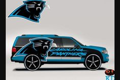 Panthers themed Vehicles Suburban Carolina Panthers Football, Panther Nation, Carolina Blue, Nfl, Darth Vader, Vehicles, Sports Teams, Nice Things, Fictional Characters